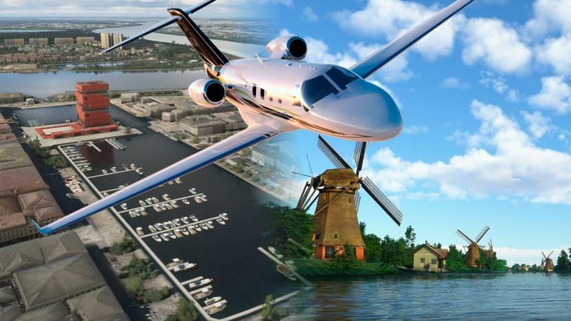 Microsoft Flight Simulator update brengt België en Nederland gedetailleerd in beeld