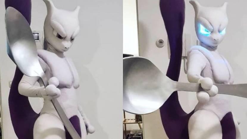 Nederlandse pronkt met geweldige Mewtwo cosplay