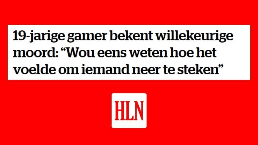"""Belgische """"gamer"""" van 19 jaar bekent moord, wou weten hoe het voelt om iemand neer te steken"""
