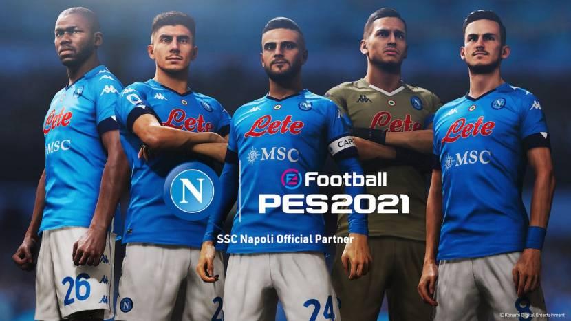 Napoli gaat samenwerking aan met PES 2022