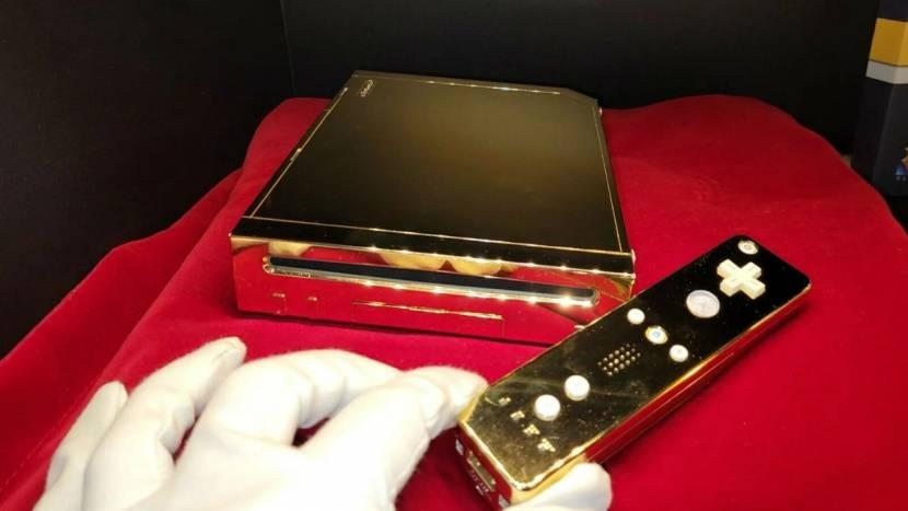 Te koop: gouden Wii die voor Queen Elizabeth II gemaakt werd