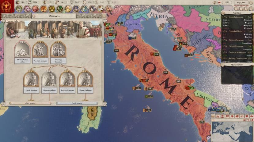 Paradox Interactive zet Imperator: Rome even op een laag pitje