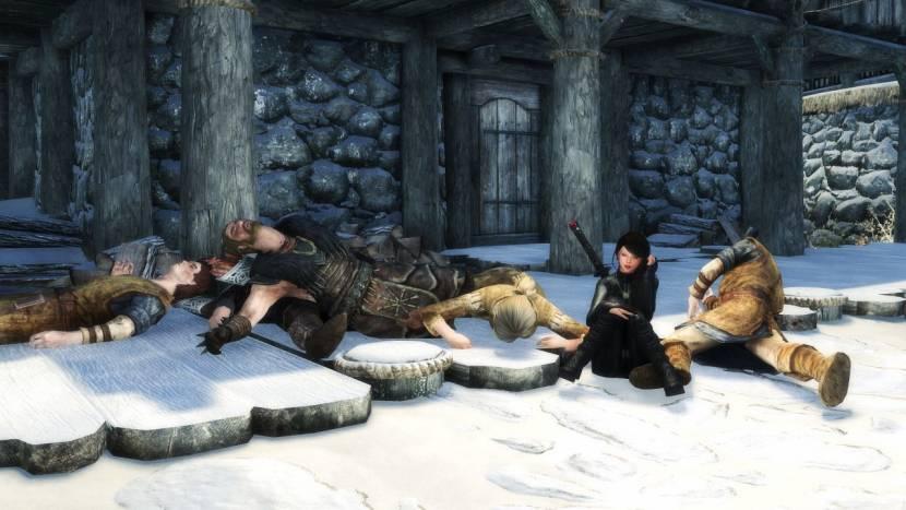Skyrim speler doodt alles en iedereen in de game en is nu helemaal alleen