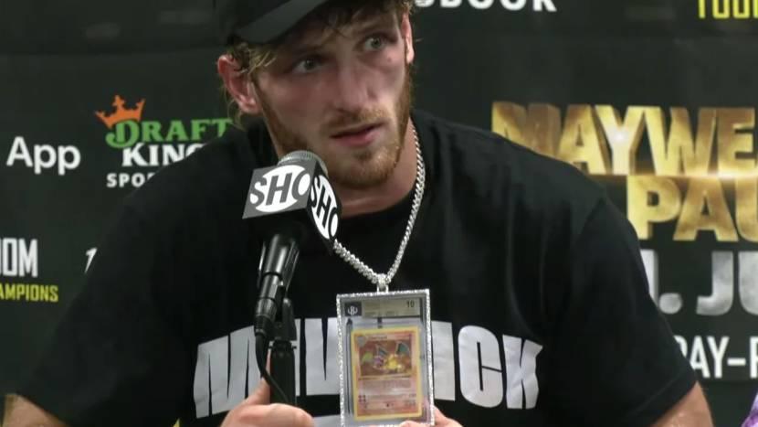 YouTuber Logan Paul droeg zijn Pokémon kaart van 150.000 dollar tijdens gevecht tegen Floyd Mayweather