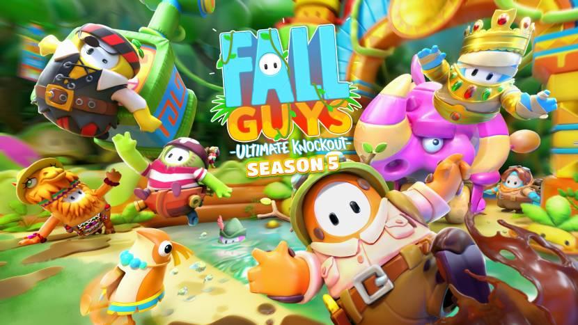 Welkom in de jungle in seizeon 5 van Fall Guys