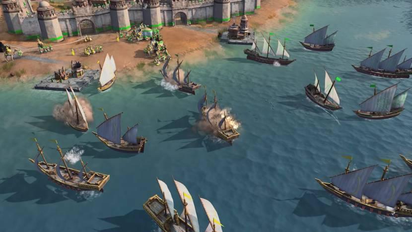 Age of Empires IV toont zeegevechten en kamelen