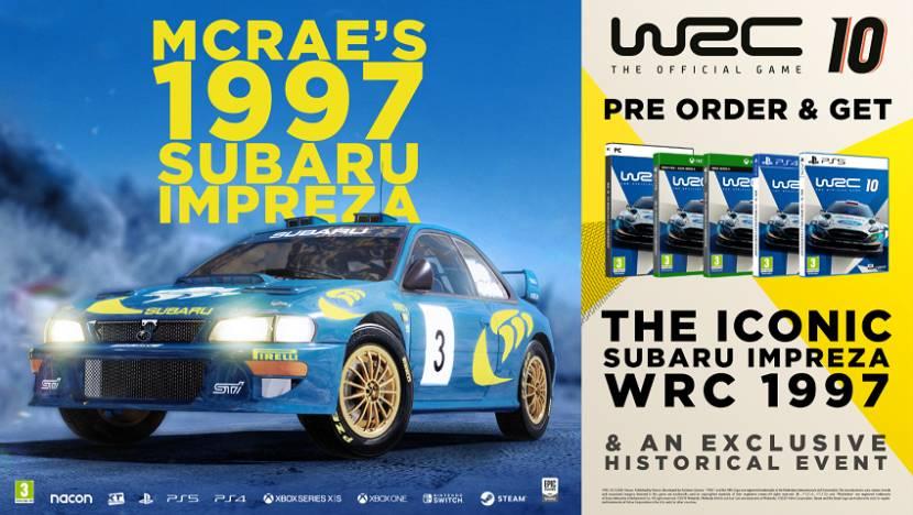 Iconische Subaru Impreza in actie in WRC 10