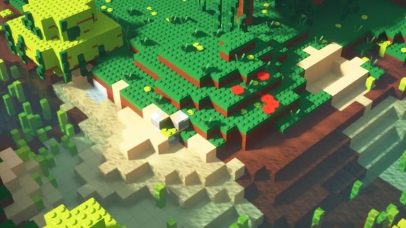 Minecraft, maar dan met LEGO-blokjes