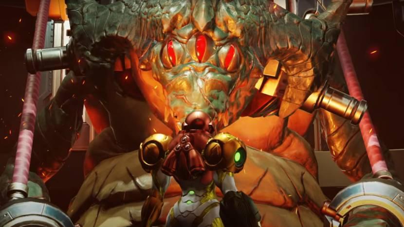 Oog in oog met de vijand in Metroid Dread