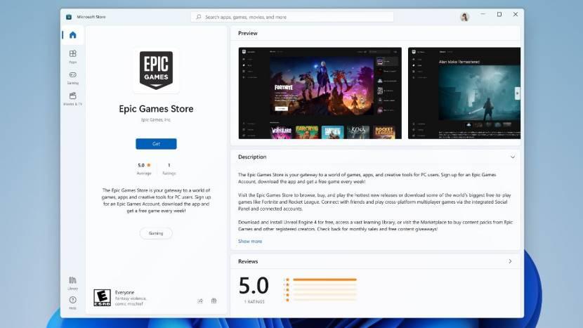 Microsoft gaat Amazon, Epic Games en andere third-party stores toelaten in Windows Store