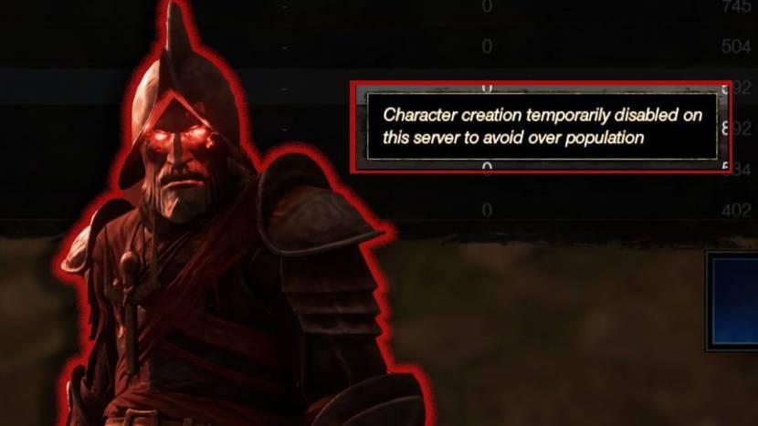 New World spelers kunnen geen nieuw personage meer maken op overvolle servers