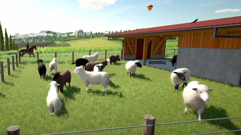 Bijen en een hoop andere dieren in Farming Simulator 22