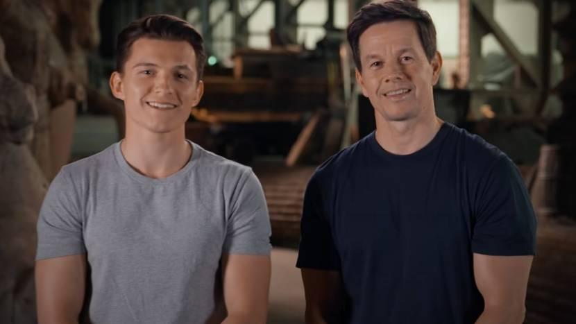 Tom Holland en Mark Wahlberg nemen je mee achter de schermen van de Uncharted film