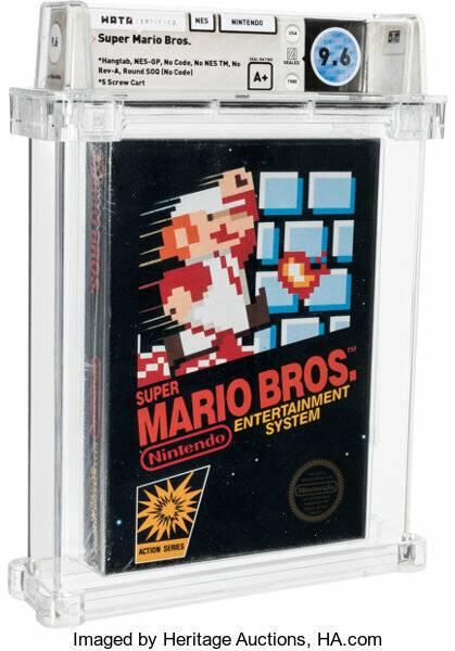 Duurste game ooit: zeldzame Mario game verkocht voor 660.000 dollar