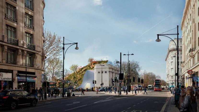 Belabberde heuvel in Londen doet denken aan Mario en Minecraft