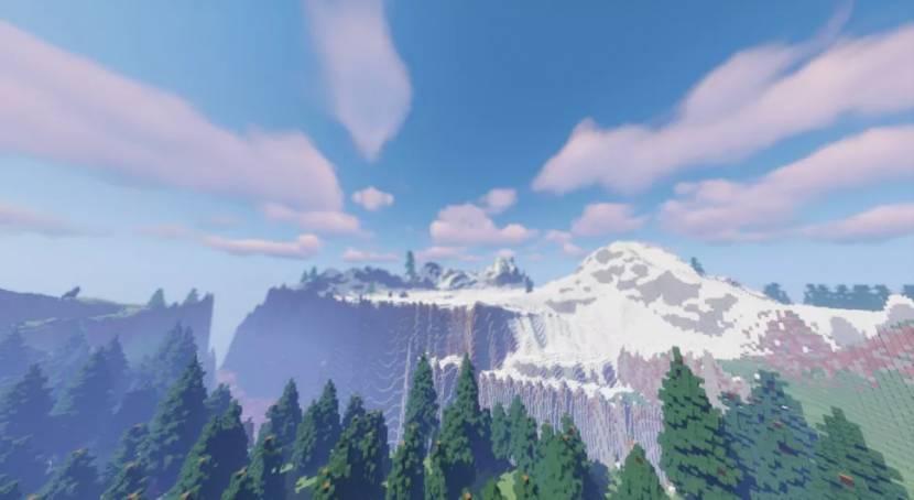 Zelda: Breath of the Wild map nagemaakt in Minecraft