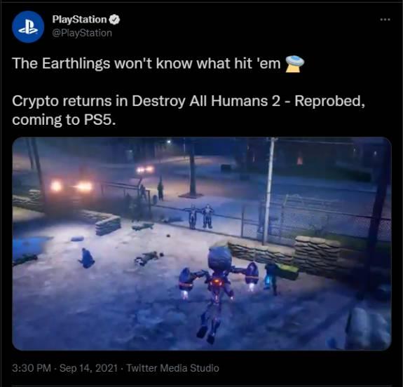 PlayStation onthult per ongeluk Destroy All Humans! 2 remake