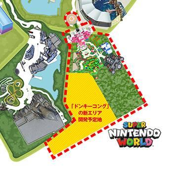 Nintendo pretpark wordt bijna dubbel zo groot dankzij toevoeging van Donkey Kong gebied