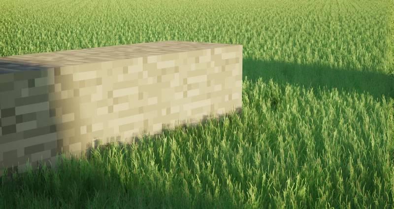 Dit super realistisch Minecraft gras doet je pc ontploffen