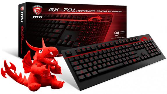 Win een MSI GK-701 mechanical gaming keyboard + plushie