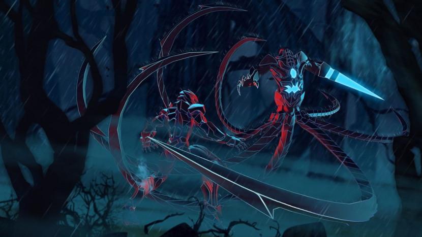 Een innerlijke strijd in duistere neon sci-fi beat-em-up Aeon Must Die