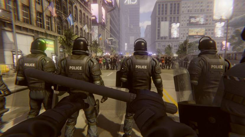 Riot Control Simulator laat je betogers neerknuppelen