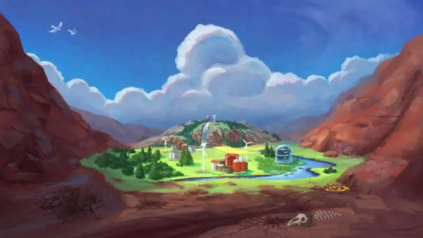 Herstel de natuur in ecologische city builder Terra Nil